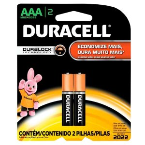 Pilha Duracell Palito  AAA C/2