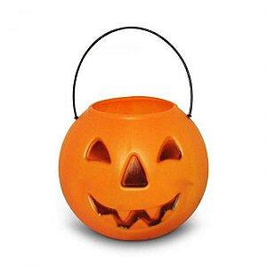 Caldeirão Abobora Laranja Halloween