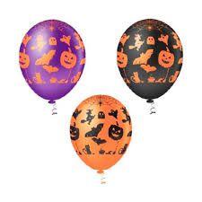 Balão Decoração Halloween Abobora N 10 C/ 25