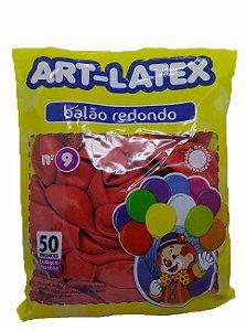 Balão Liso Art-Látex Cores N9 C/ 50