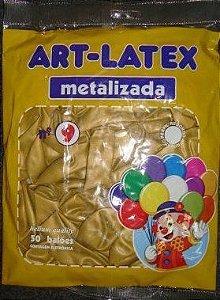 Balão Metalizado  Art-Látex Cores N9 C/ 50