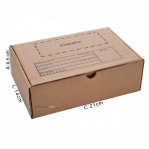 Caixa de Papelão P/ Correio N 01 (21x15x6,5) Uni
