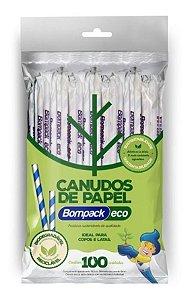 Canudo De Papel Bompack 8mmx19,7cm  C/25