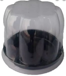 Embalagem P/ Cup Cake Baixa Preta G 690 C/50