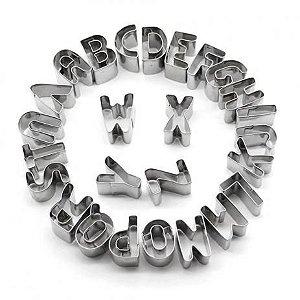 Forma de Alumínio Alfabeto Completo Cartela