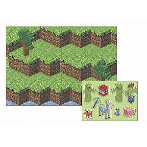 Painel Gigante Mini Pixels 5 Folhas