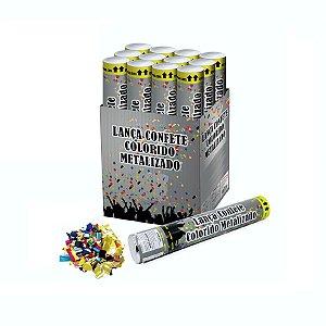 Lança Confete Papel Metalizado 30cm  Cores Uni