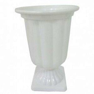 Vaso Plástico Decorativo Grande Branco Uni
