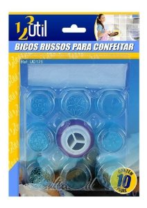 Bicos Russos Plástico P/ Confeitar C/10
