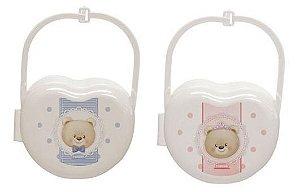 Porta chupeta Urso/Ursa Cores Uni