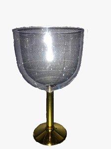 Taça Gim Dourado Cristal