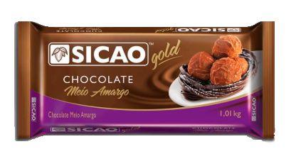 Choc Sicao Meio Amargo Gold 1,01 kG