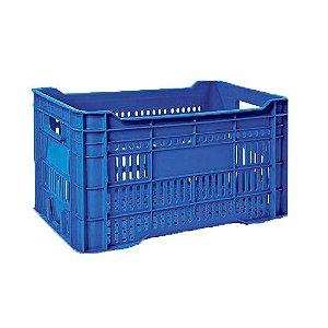 Caixa Plástica Azul e Vermelha