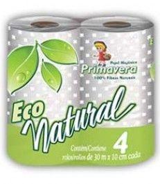 Papel Higiênico Primavera  Eco Natural 30m 16x4
