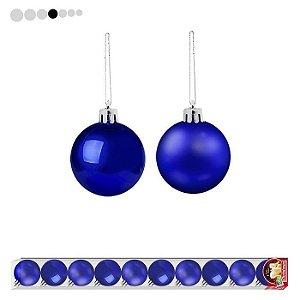 Bola de Natal 5cm Azul
