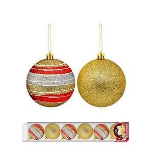Bola de Natal 7cm Dourada