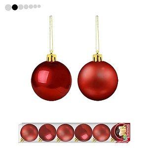 Bola de Natal Vermelha 7/8cm