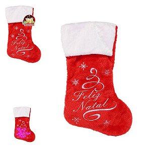 Bota Feliz Natal c/ Led