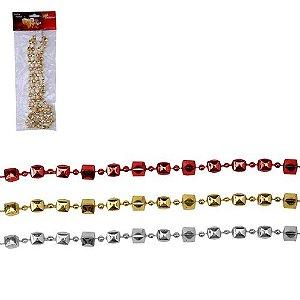 Cordão Quadrado 3 Cores Variadas