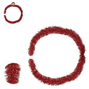 Festão 9cmx2mt Vermelho