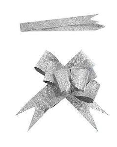 Laço Prata c/ Gliter