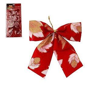 Laço Natalino Vermelho c/ Flores