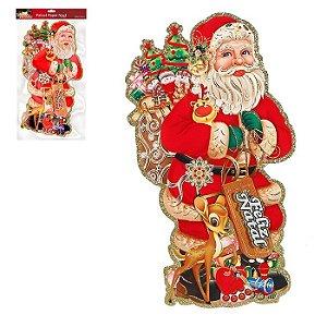 Painel Papai Noel c/ Gliter