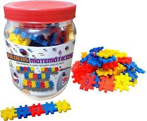 Blocos Matemáticos Pote C/96 Pçs