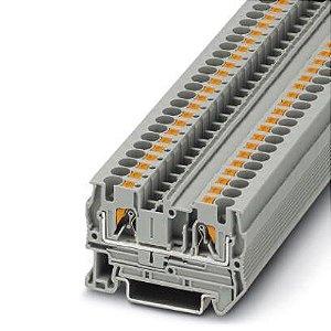 PT 4 BORNE CONECTOR DE PASSAGEM CONEXÃO PUSH-IN 4MM 3211757 PHOENIX CONTACT