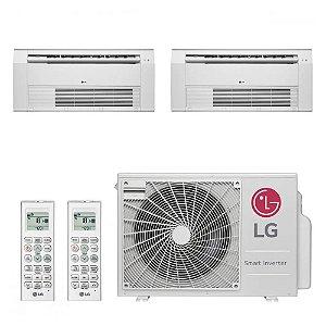 Ar Condicionado Multi Split Cassete Inverter LG 18000 BTUs 2x 9000 Quente Frio