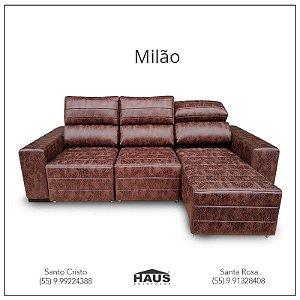 Sofá Milão retrátil (Consulte frete e prazos via Whatsapp)
