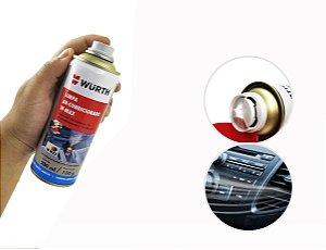Limpa ar condicionado para limpeza e higienização de ar condicionado automotivo veiculo sem odores desagradaveis Wurth