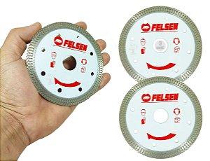 Kit 3 Discos Diamantado Para Cortar Porcelanato Ultra Fino Corte com acabamento Perfeito e exelente rendimento - FELSEN
