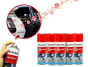 kit 5 Limpa ar condicionado para limpeza e higienização de ar condicionado automotivo veiculo sem odores desagradaveis Wurth