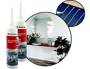 kit 2 Fixa espelho e cola vidros sem manchar ou danificar ideal para colar tampa de maquina de lavar e fixação de espelhos na parede