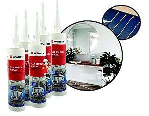 kit 5 Fixa espelho e cola vidros sem manchar ou danificar ideal para colar tampa de maquina de lavar e fixação de espelhos na parede