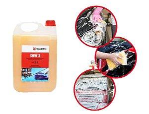 Produto Para Lavar Carro Moto Com Cera de Shampoo Automotivo para carros 5L Wurth