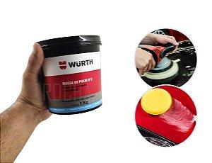 Massa de polir automotiva N2 a base de agua 1kg wurth Tira risco e da brilho a melhor