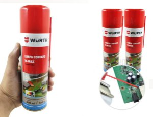 kit 2 Limpa Contato Eletrico Wurth 300ml O Melhor Alta Performace para placas eletronicas