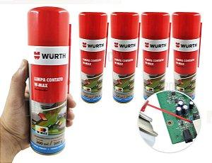 kit 5 Limpa Contato Eletrico Wurth 300ml O Melhor Alta Performace para placas eletronicas