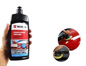 Polimento automotivo liquido polidor corte fino remove riscos e imperfeicoes da pintura