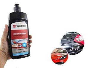 Polimento automotivo liquido Lustrador remove os menores riscos e marcas da pintura e promove Brilho inteso