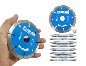 Kit 10 Disco diamantado para cortes em Concreto alvenarias pedras abrasivas e contrapisos preciso e com exelente rendimento - felsen