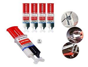 5 Cola Epoxi Titanium Wurth Solda Fria Cola para ferro aço aluminio cobre a melhor cola para metais