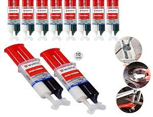 10 Cola Epoxi Titanium Wurth Solda Fria Cola para ferro aço aluminio cobre a melhor cola para metais