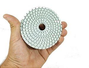 Lixa Diamantada para polir porcelanatos marmores e granitos 100mm polimento cortes 45 graus