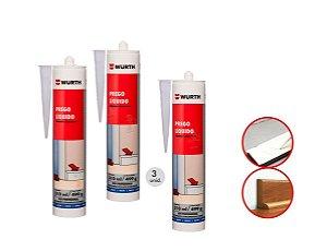 Kit 3 prego liquido wurth adesivo cola para roda pé polietileno/madeira/mdf a melhor