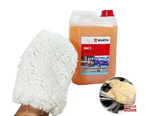 Produto Para Lavar Carro Moto Cera Shampoo/Sabão Automotivo profissional concentrado + Luva