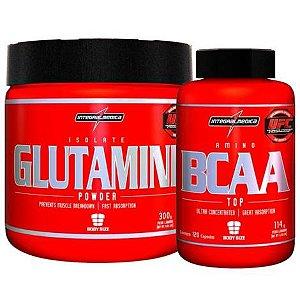 Combo Glutamine 300g + BCAA Top c/120 (caps) - Integralmédica