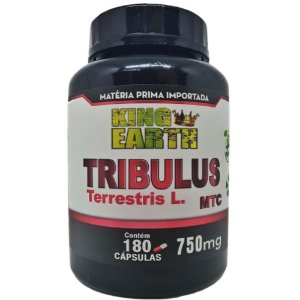 Tribulus Terrestris 750mg c/180 Cápsulas - 40% de Saponinas - King Earth